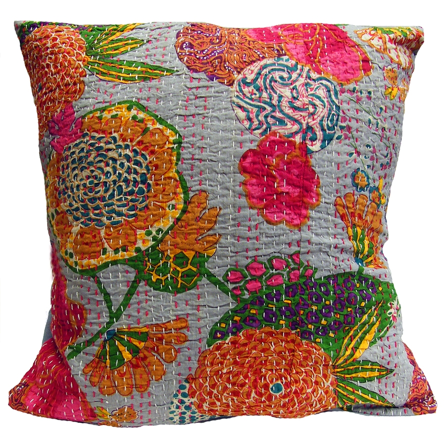 Handmade Kantha Cushion